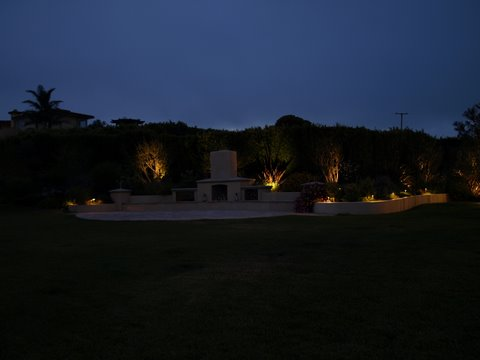 simi valley landscape lighting patio area
